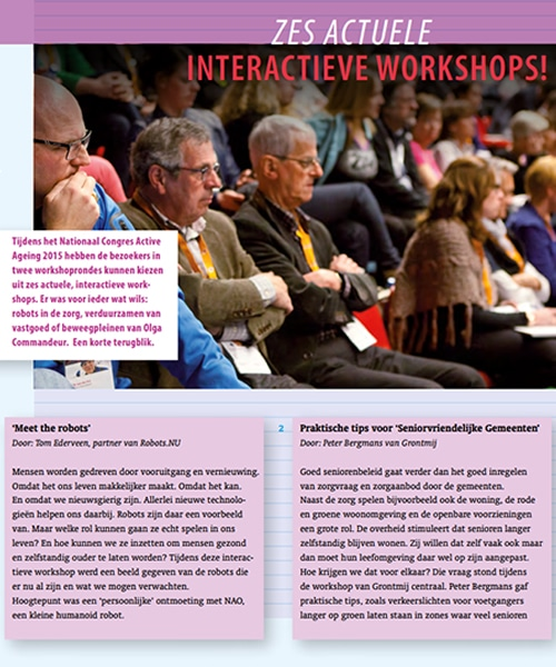 Active Aeging interactieve workshops
