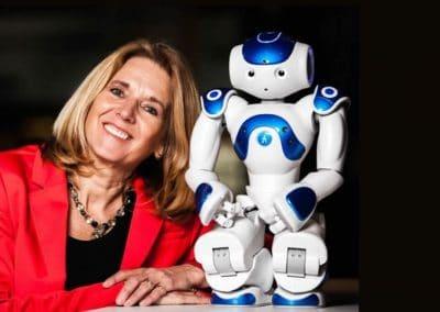 Spreker robots in de zorg